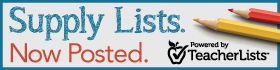 Supply Lists Now Posted: Powered by TeacherLists