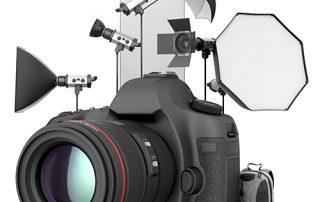 35mm camera and studio photography equipment